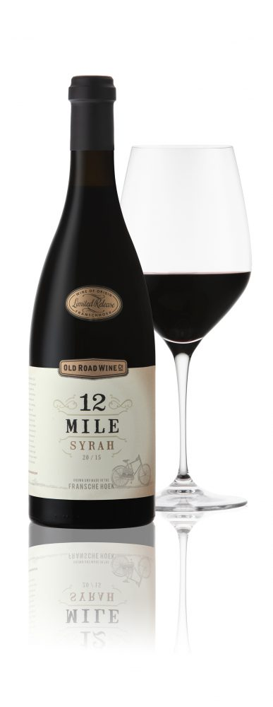 Old Road 12 Mile Syrah Glass 387x1000 Old Road Wine Co.'s 12 Mile Syrah Flies in with top rating from Wine Advocate