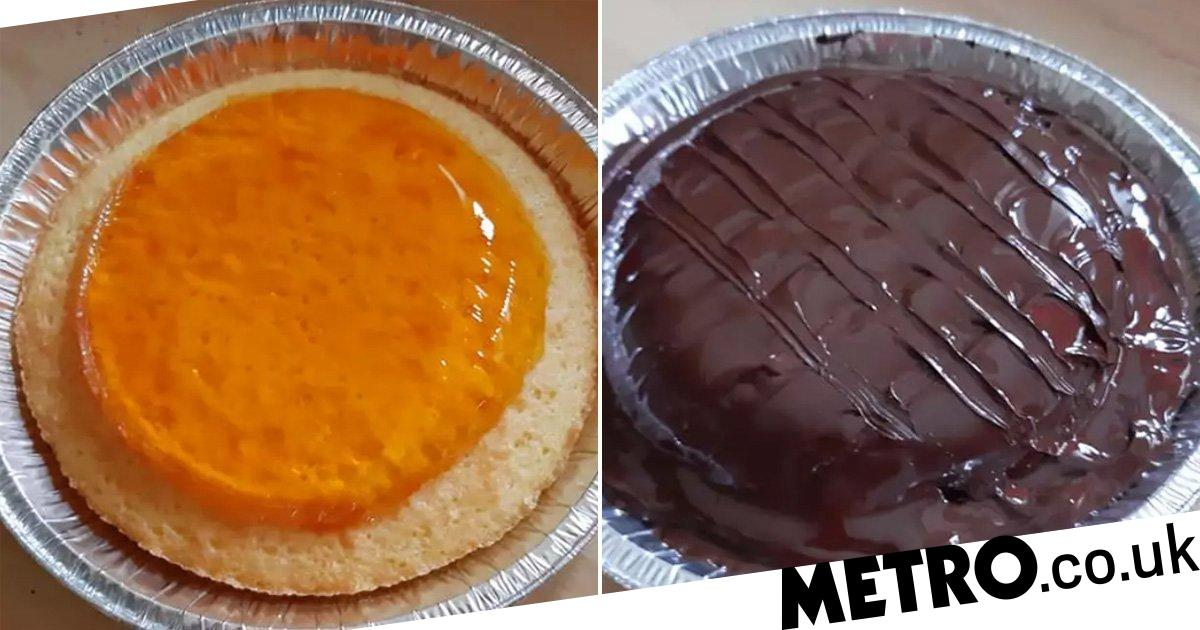 Woman Shares Simple Recipe For Incredible Giant Jaffa Cake photo