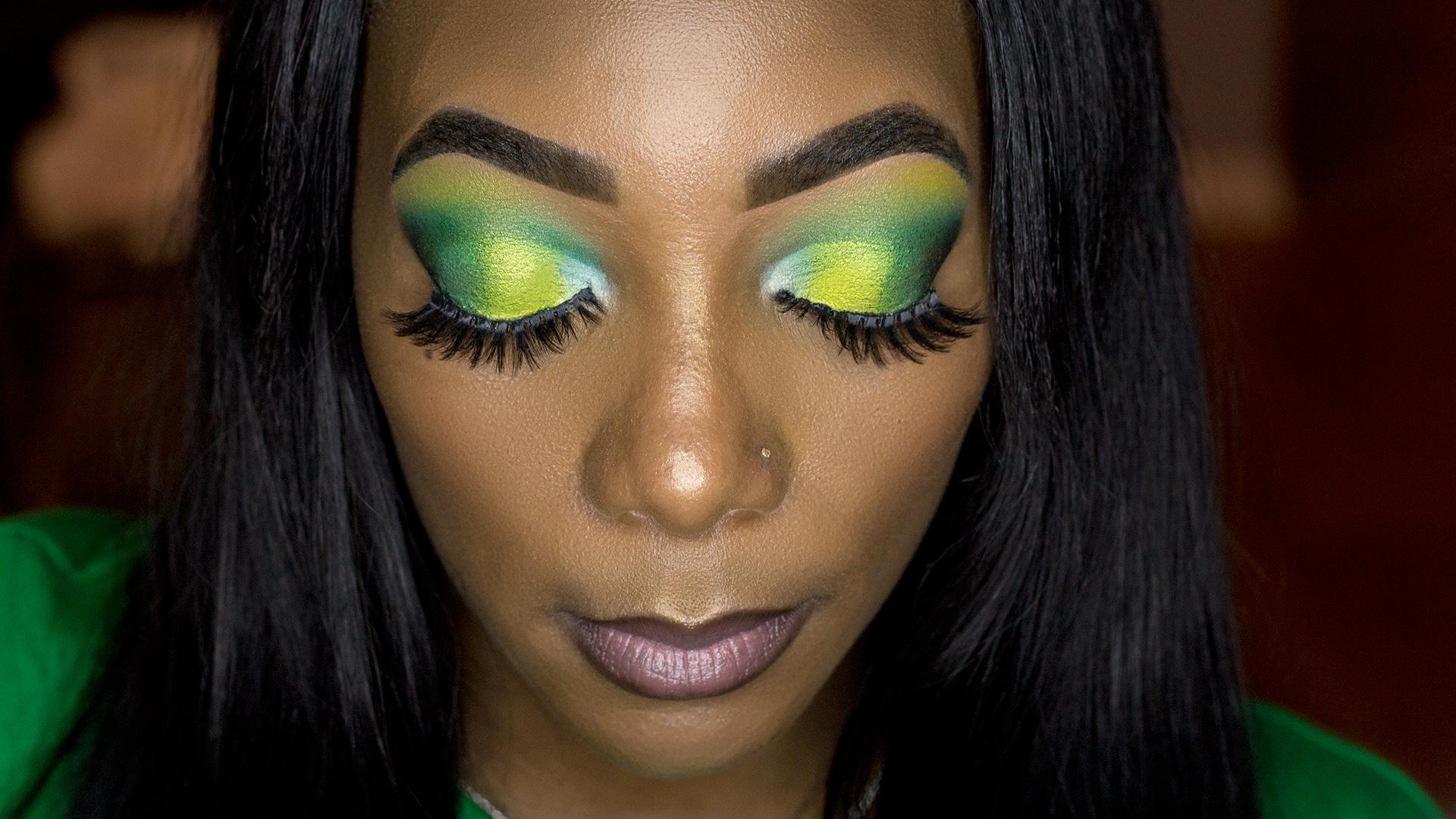 How To: Sprite Yellow & Lime Green Eyeshadow Makeup Tutorial – Alexus Renée Celebrity Myxer photo