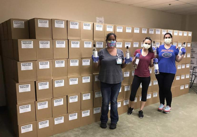 Bacardi Donates 700 Cases Of Hand Sanitizer To Baptist Health photo
