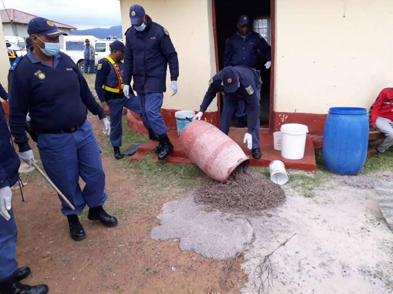 Homemade Beer Banned: Cops And Soldiers Crack Down On Umqombothi photo