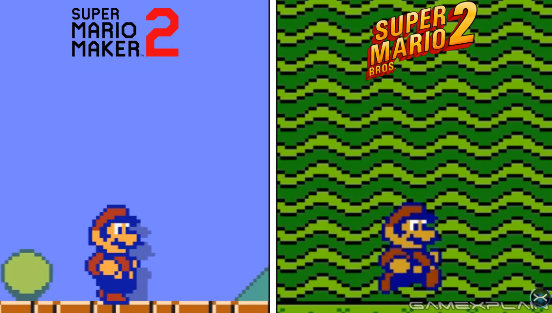 Comparing Super Mario Bros. 2's Mario Sprite To The One In Super Mario Maker 2 photo
