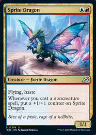 Sprite Dragon • Ikoria: Lair Of Behemoths (iko) • Mtg Arena Zone photo