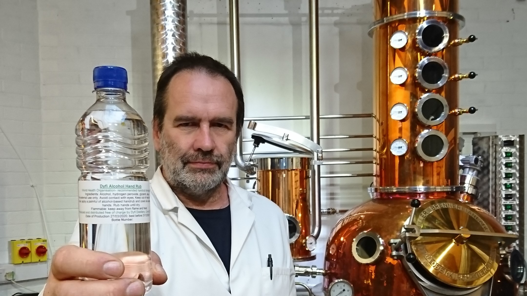 Welsh Gin Producers Make And Give Away More Than 200,000 Bottles Of Hand Sanitiser photo