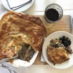 Braised Lamb Shoulder Pie with Vegetables and Date Chutney photo