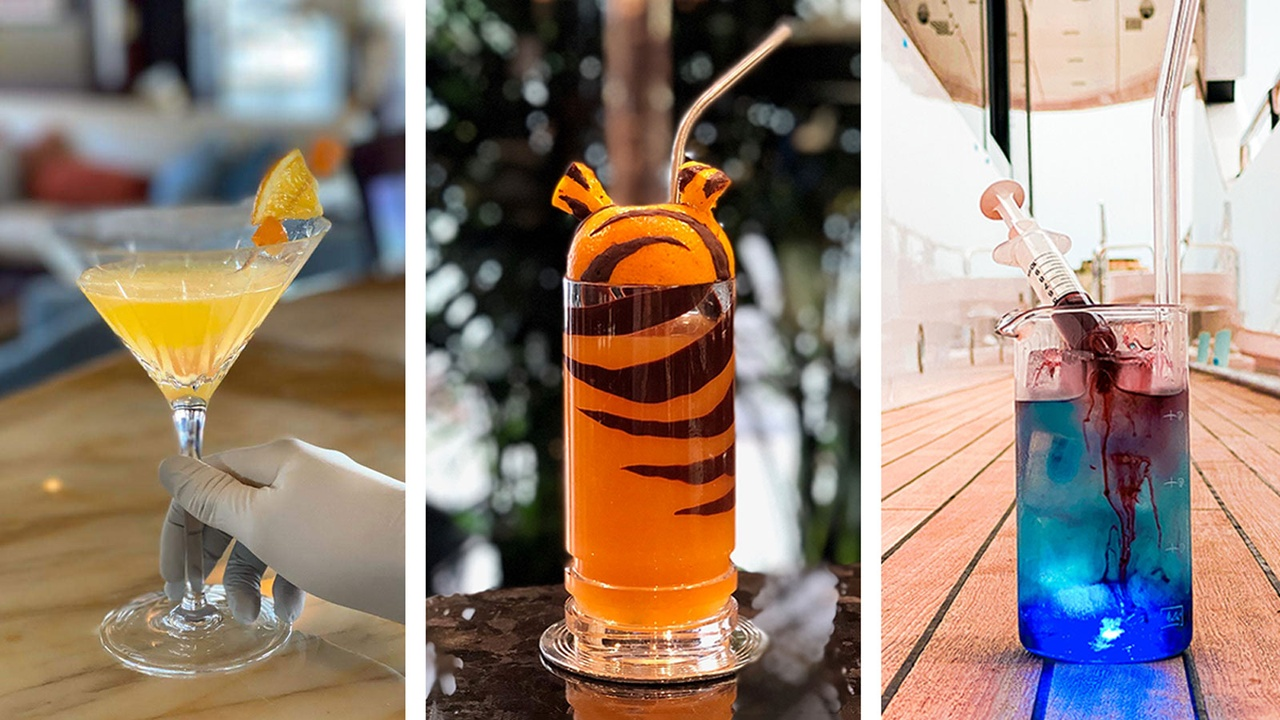 Superyacht Crews Create Quarantine-themed Cocktails In Lockdown photo