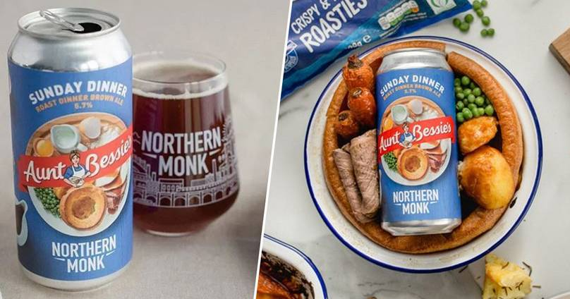 Northern Monk Brewery Creates Roast Dinner-flavoured Beer With Aunt Bessie's, And People Are Divided photo