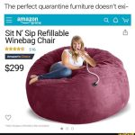 The Sit N Sip Refillable Winebag Chair Proves Perfect Quarantine Furniture Does Exist photo