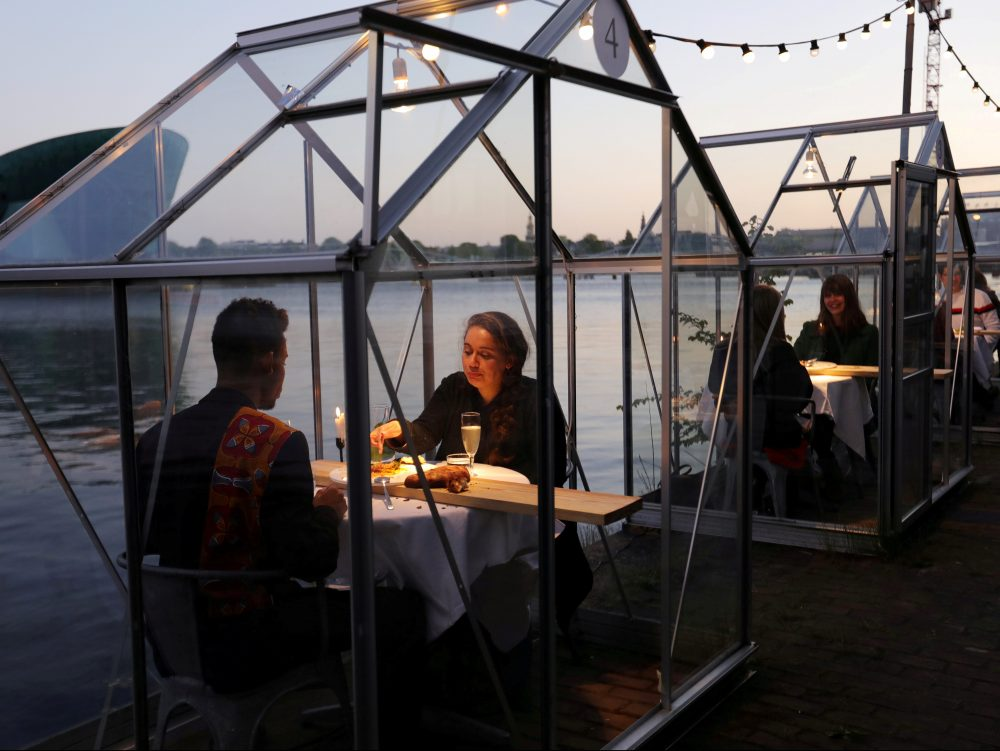 The New Going Out: Glass Dining Booths, Bejewelled Masks And Drive-in Cinemas photo