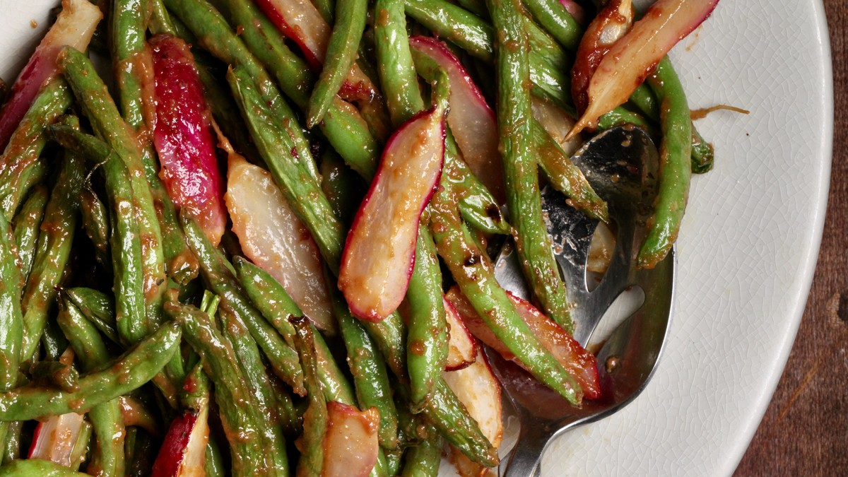 Miso-glazed Green Beans And Radishes Recipe photo