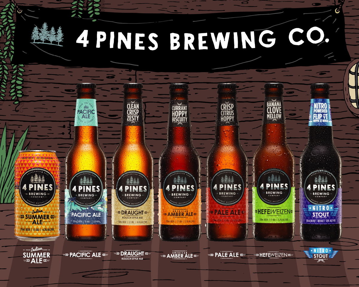 4 Pines Brewing Company Hands Creative Account To Monster Children Creative photo