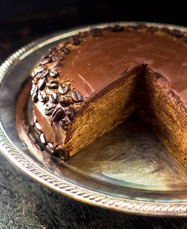 Amarula Crêpe Cake photo