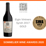 Elgin Vintners Syrah 2017 Earns Gold from UK Sommeliers photo