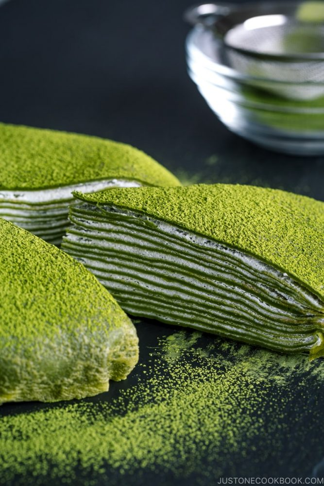 Matcha Mille Crepe Cake 4626 II 667x1000 The Most Striking And Decadent Crêpe Cakes