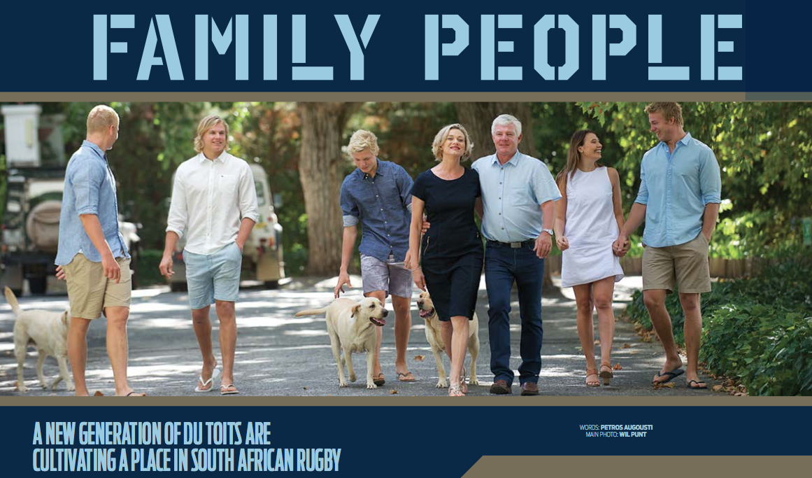 From The Mag: A Different Look At Rugby's Du Toit Family photo