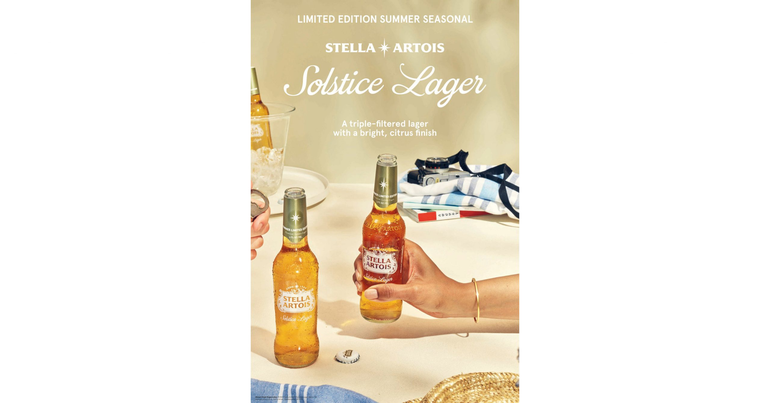 Savor The Taste Of Sunshine In A Bottle With New Stella Artois® Solstice Lager photo