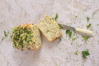 Recipe: Garlic Herb And Courgettes Bread photo