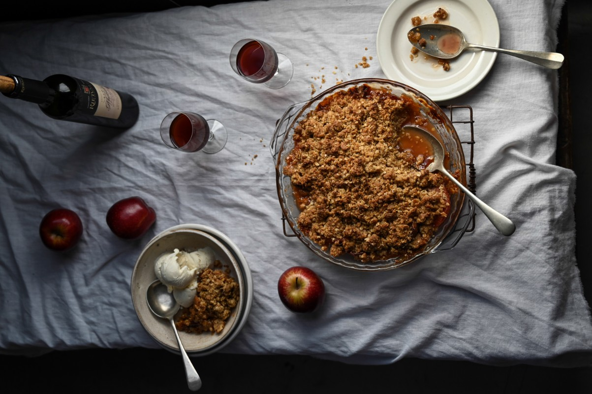 Apple and Quince Crumble photo