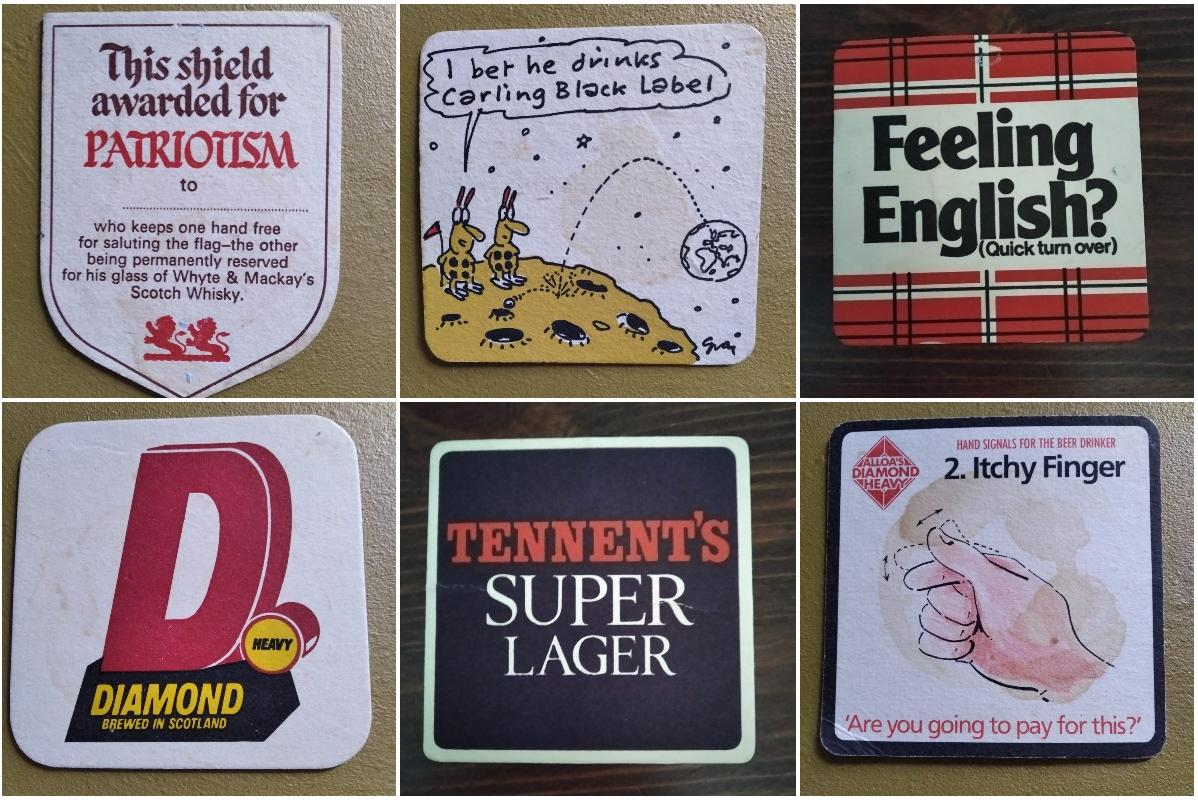 Only Edinburgh's Old Boozers Will Remember These Classic Retro Beer Mats photo