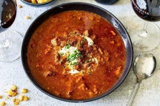 Recipe: Hearty Beef Goulash Soup photo
