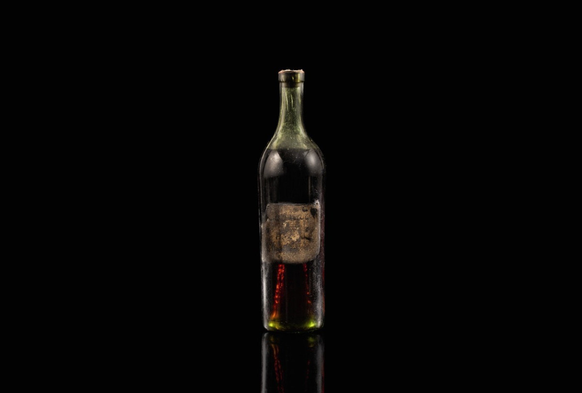 Cognac Bottle From 1762 Sets Record At Auction photo
