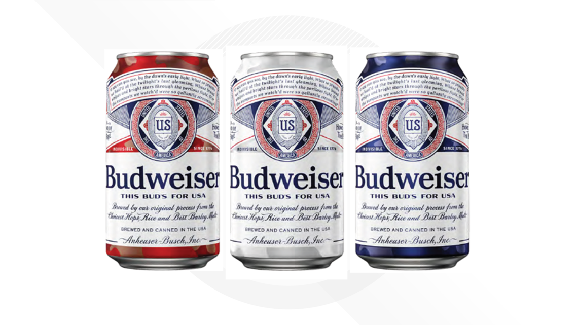 Budweiser Debuts New Can Design To Salute Us Military photo
