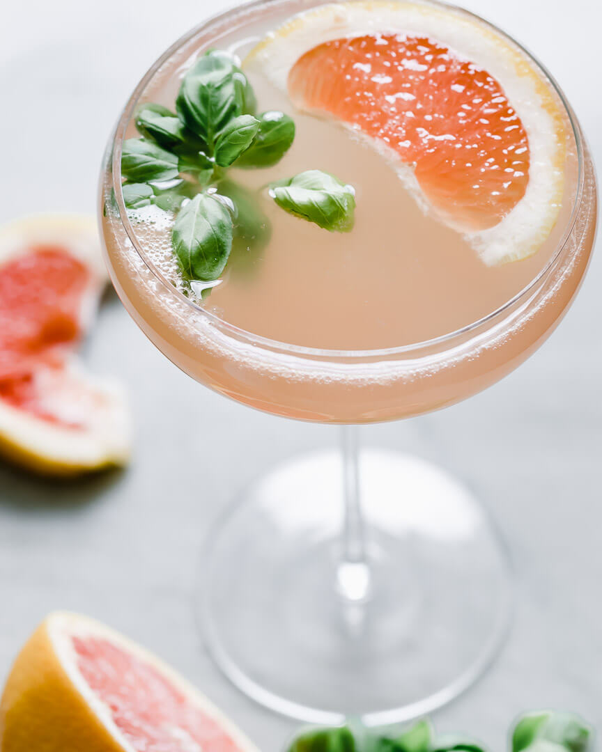 Cook On A Whim: Grapefruit-basil Gin & Tonic photo