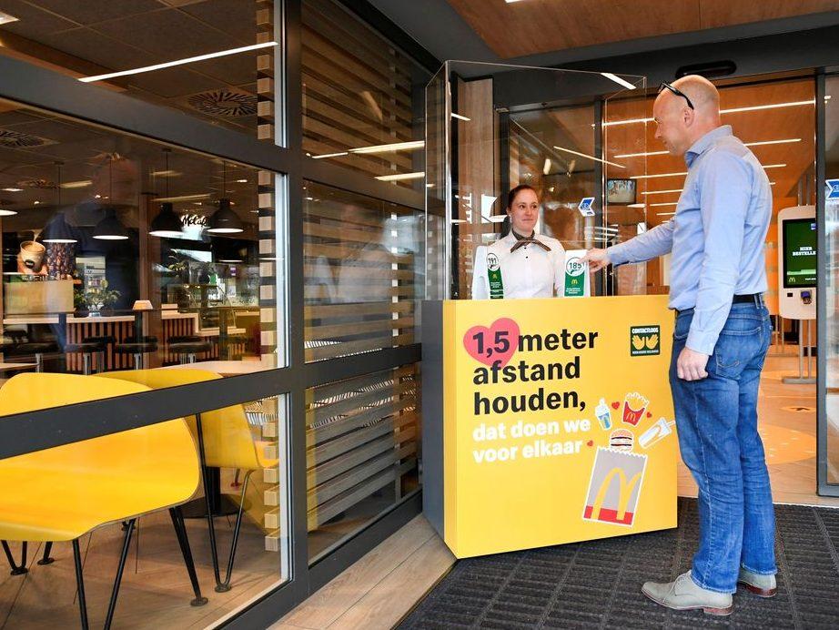 Big Mac At A Distance: Dutch Mcdonald's Trials Virus-proof Restaurant photo