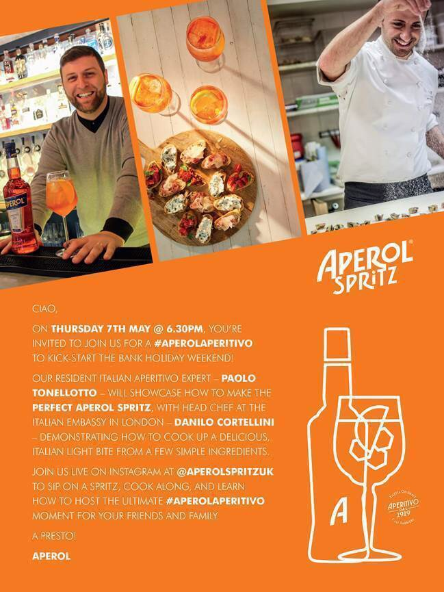Join Aperol Aperitivo Hour Ahead Of The Bank Holiday Weekend photo