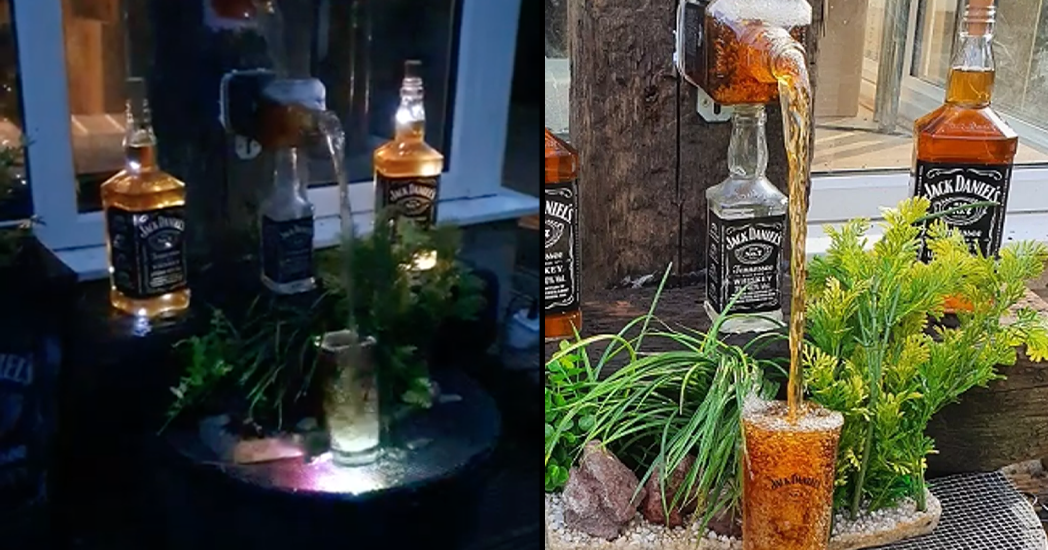 Some Dude Diy'd A Jack Daniels Waterfall photo
