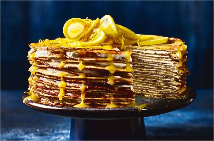 lemon drizzle pancakes 700x460 The Most Striking And Decadent Crêpe Cakes
