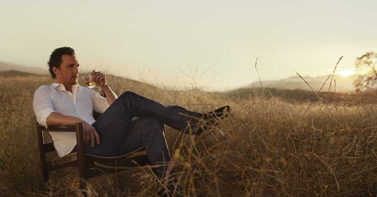 Matthew Mcconaughey Drinks Bourbon Neat, On The Rocks, Or While Duck Hunting photo
