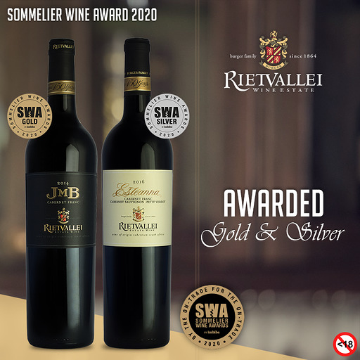 Gold and Silver for Rietvallei at the Sommelier Wine Awards photo