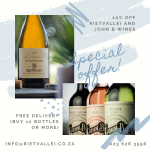 Rietvallei Wine Estate Special Offer: 10% Discount and Free Delivery photo