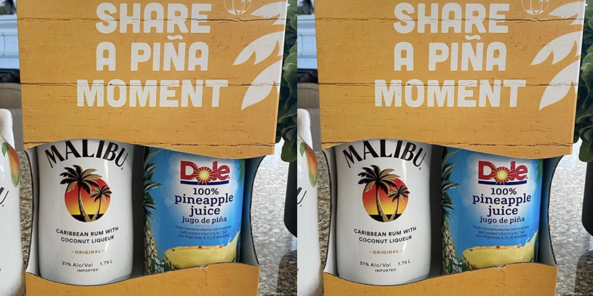 You Can Buy A Combo Pack Of Malibu Rum And Dole Pineapple Juice So You Always Have A Mixer On Hand photo