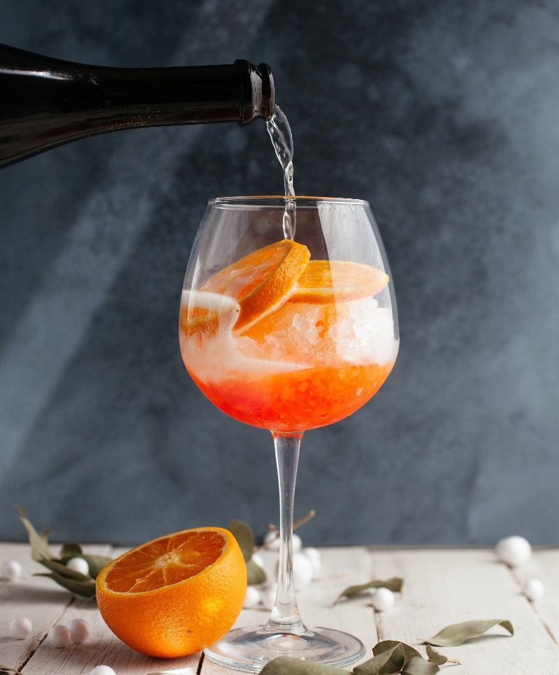 How To Make A Poorman's Aperol Spritz photo