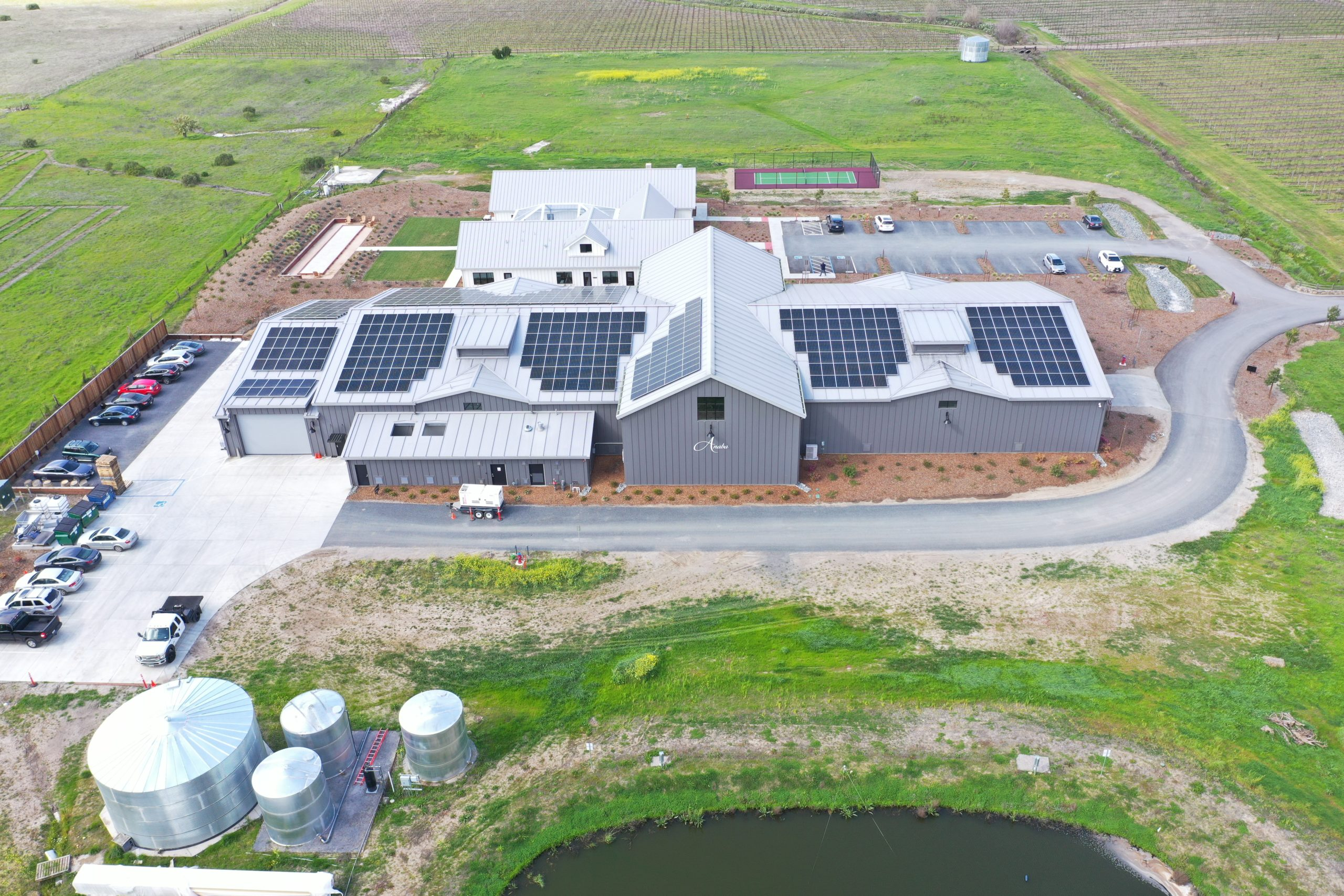 Anaba Wines Surges Forward On Path Towards Sustainability With Solarcraft Solar Power Installation photo