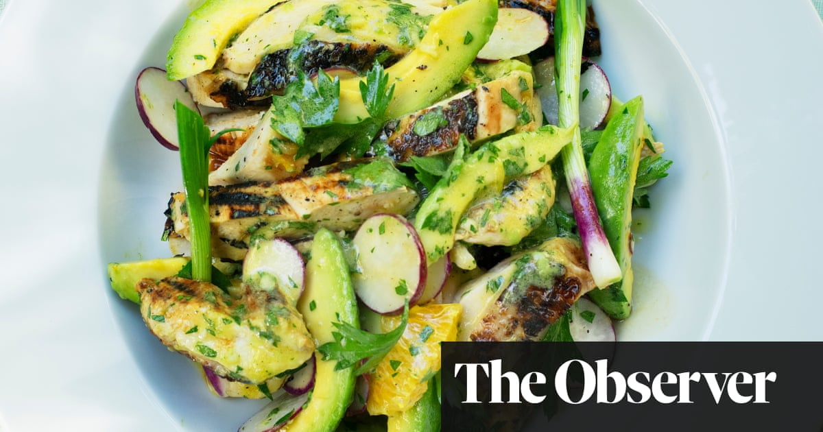 Nigel Slater's Recipes For Chicken With Avocado, And Gooseberry Trifle photo