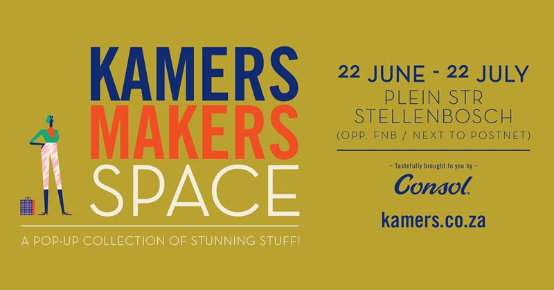 Kamers/makers To Kick Off New Pop-up Concept In Stellenbosch photo