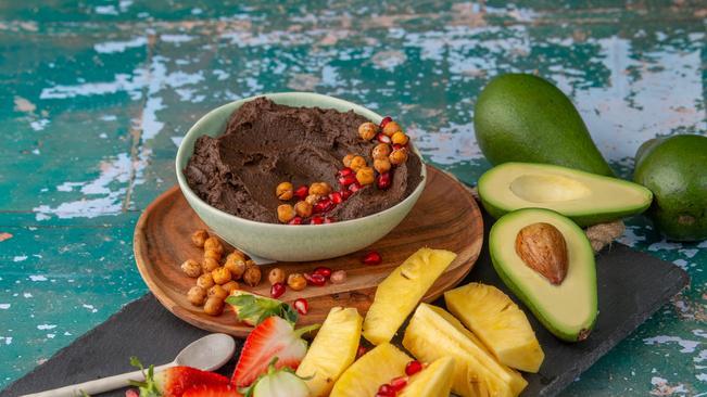 Recipe: Avocado And Chocolate Hummus With Cinnamon Roasted Chickpeas photo