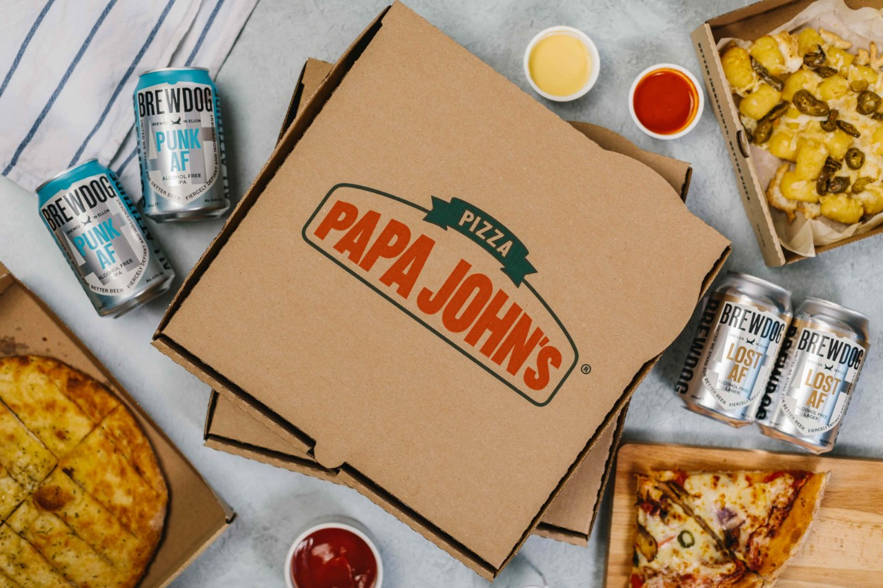 Papa John's Partners With Brewdog To Add Beers To Takeaway Menu photo