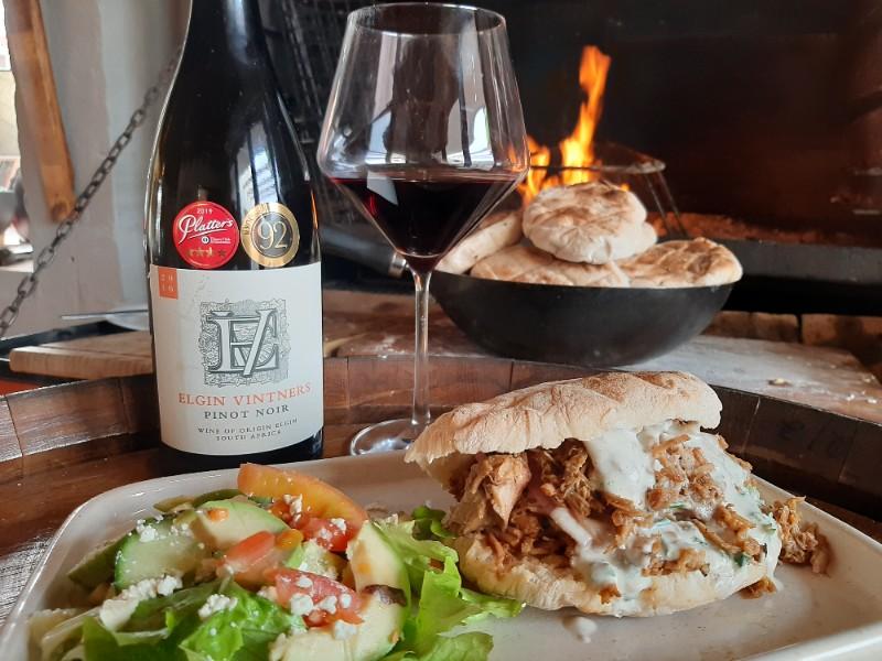 Jan Braai's Pulled Pork Burgers Paired With Elgin Vintners Pinot Noir photo