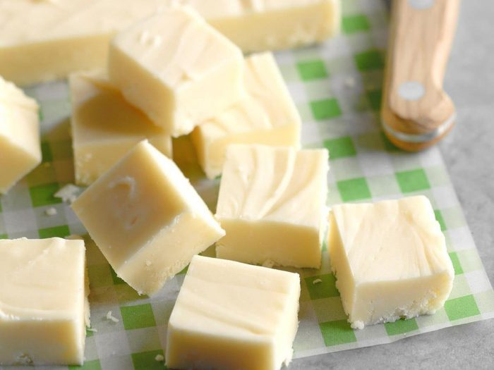 Holiday White Chocolate Fudge EXPS SDDJ18 34560 B08 03 8b 700x525 Fun Facts To Celebrate International Fudge Day Plus A Recipe Or Two