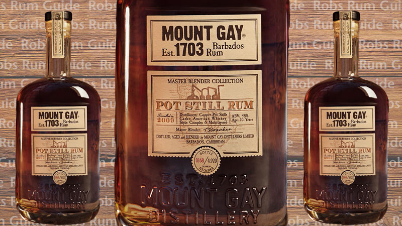 Limited Edition Mount Gay Pot Still Rum Aged Ten Years photo