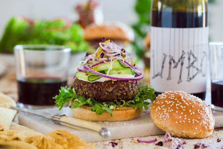 Recipe: Mushroom & Quinoa Burger Paired With Blacksmith Wines Limbo Red photo