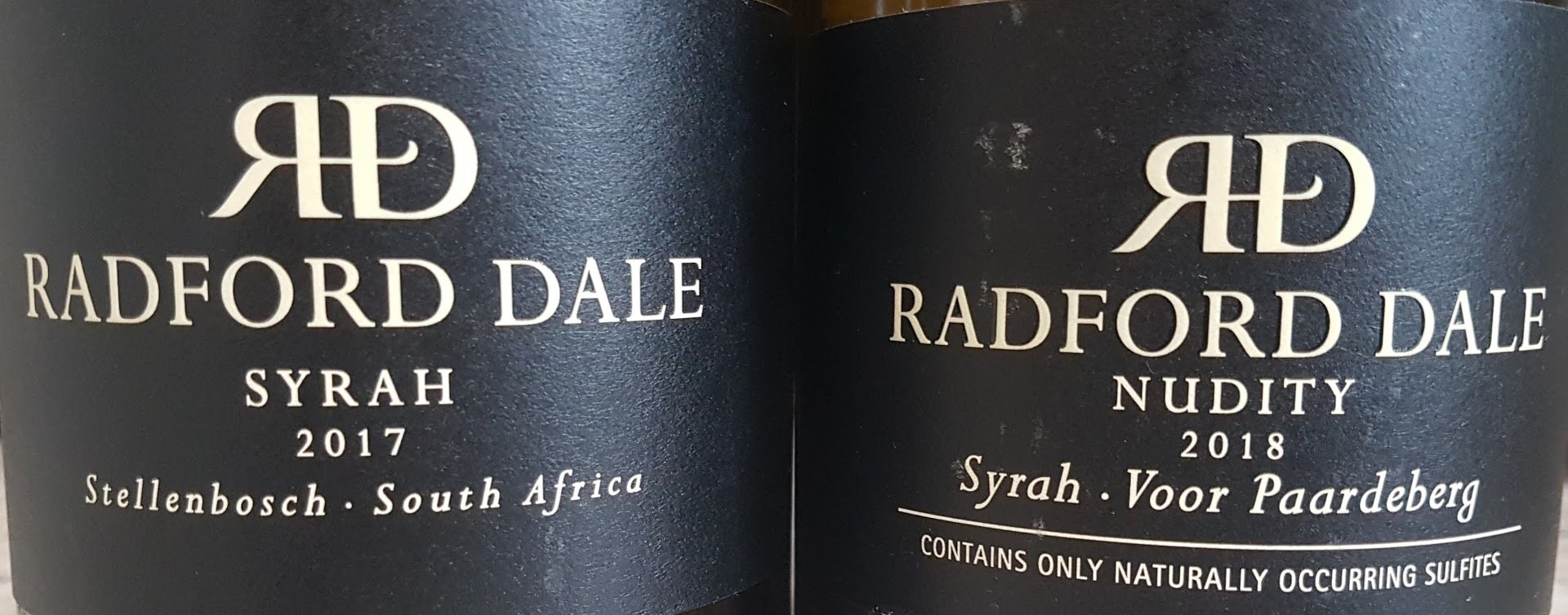 Radford Dale Syrah 2017 Vs Nudity Syrah 2018 photo