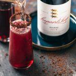 Spicy Sparkling Shiraz Cocktail With Dark Chocolate Nibs photo