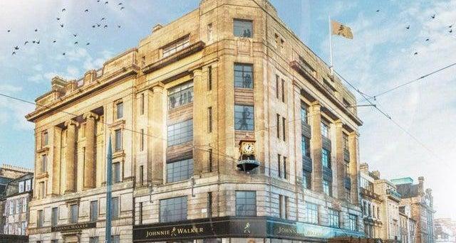 Work Restarts At Edinburgh's Johnnie Walker Visitor Centre On Princes Street photo