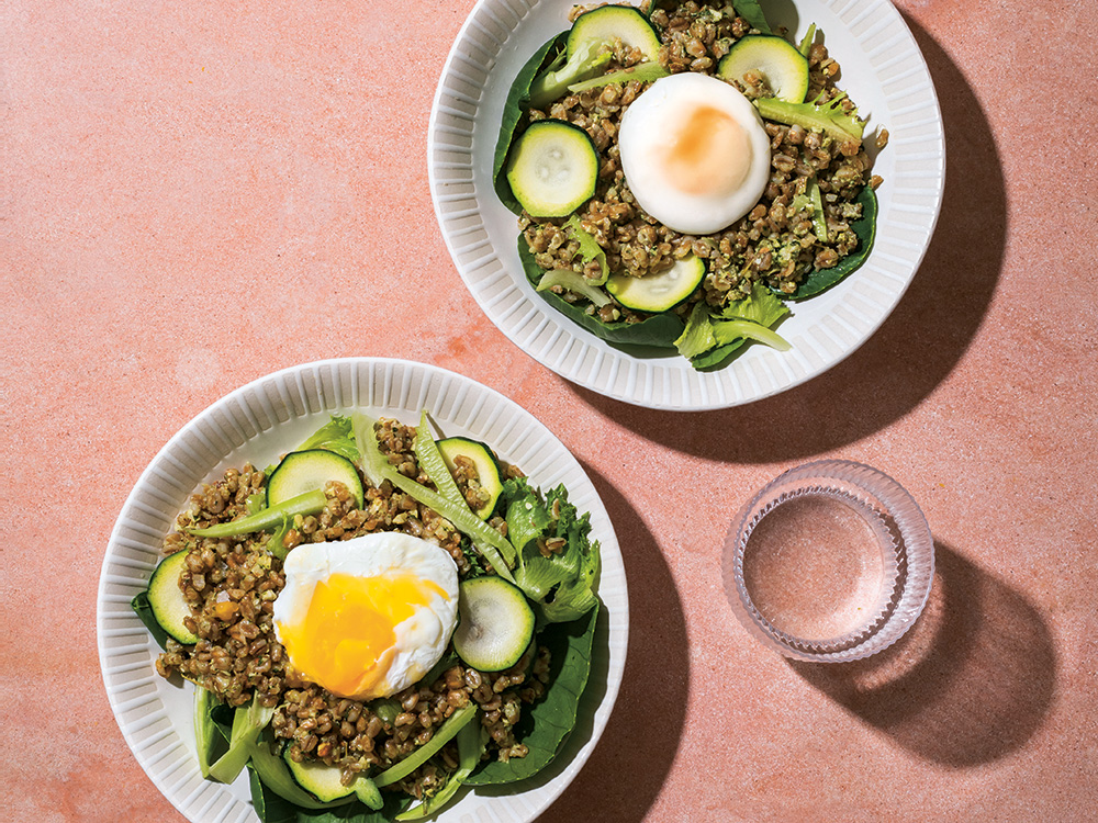 Cook This: Farro Salad With Poached Eggs From The Vegetarian Silver Spoon photo