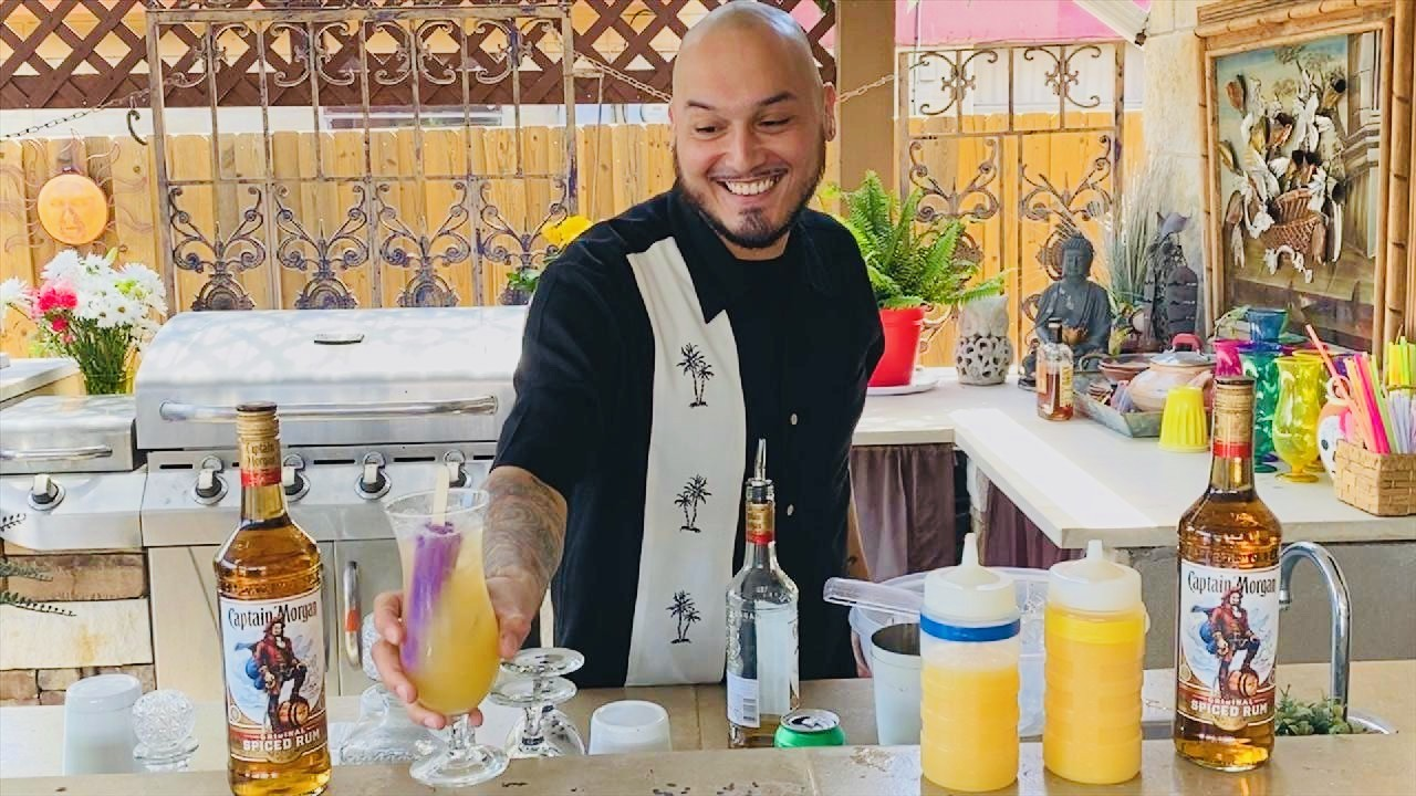 Dallas Bartender Makes A Grape Popsicle Rum Cocktail On Jimmy Kimmel Live! photo